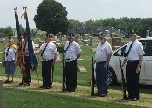 Memorial Service at Mansfield Cemetery