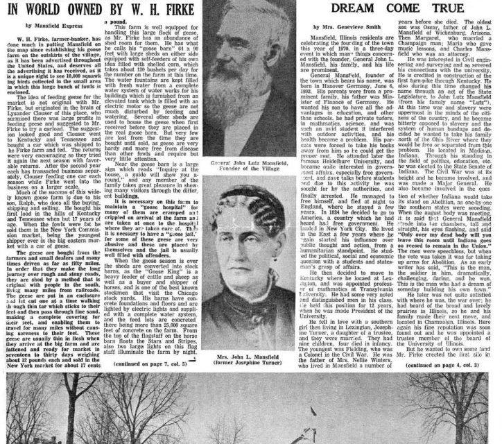 Mansfield Centennial Times (August 27, 1970)