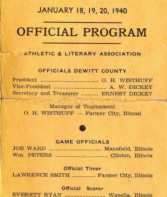 1940 DeWitt Co. Basketball Tournament